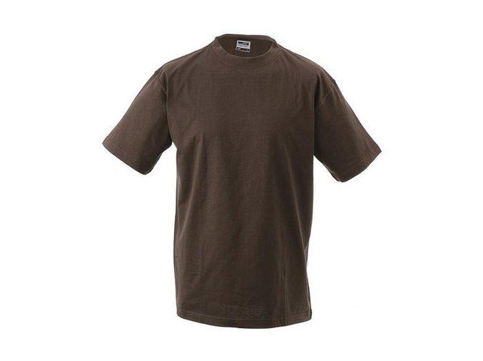 James a Nicholson JN002 pánské tričko 4XL hnědé