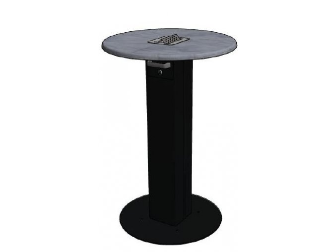 Kuřácký stůl  kulatý s popelníkem