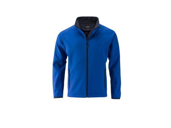 James a Nicholson JN1130 Pánská softshellová bunda modrá