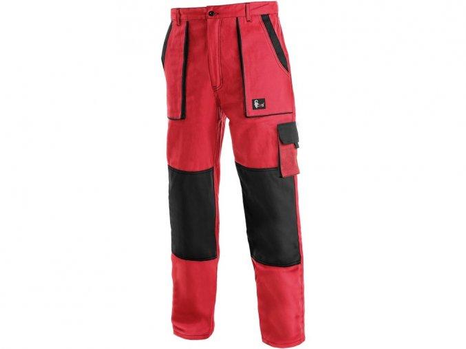 LUX JOSEF monterkové kalhoty červeno-černé