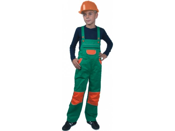 Pinocchio dětské kalhoty zeleno/oranžové