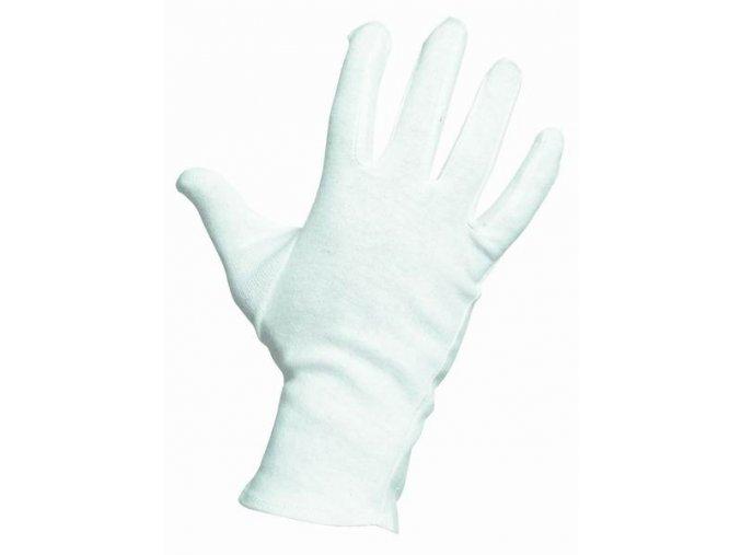KITE pracovní rukavice bavlněné bílé