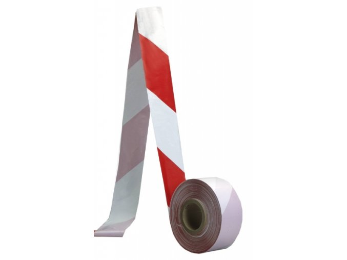 Bezpečnostní ohraničující páska červeno-bílá 75mm x 500 m