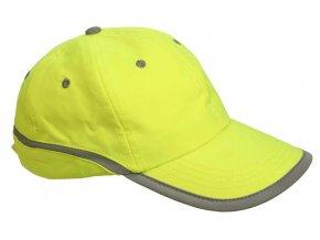 TAHR baseballová čepice reflexní žlutá