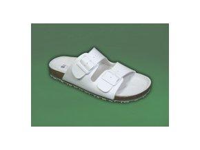 zdravotní pantofle bílé pánské