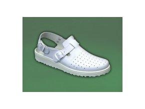 zdravotní sandály s plnou špicí bílé