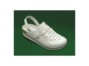 zdravotní sandály s plnou špicí bílé dámské