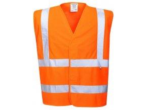 oranžová vesta