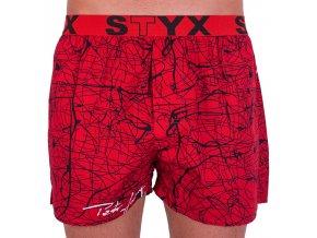 panske trenky styx art sportovni guma jachym cervene b753