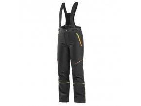 kalhoty cxs trenton zimni softshell detske cerne s hv zlutooranzove doplnky
