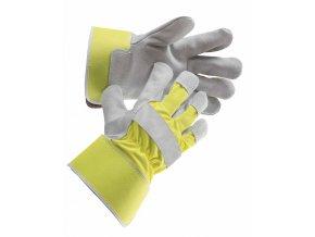 CURLEW YELLOW - pracovní rukavice hovězí štípenka vel. 10,5