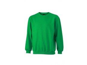 James a Nicholson JN040 pánská mikina 5XL zelená