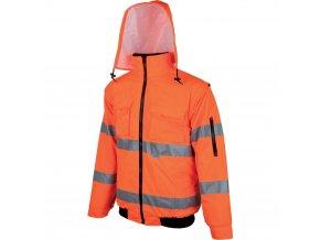 HOWARD výstražná bunda 2v1 pilotka oranžová zateplená