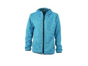 JN589 pánská fleecová bunda modrá