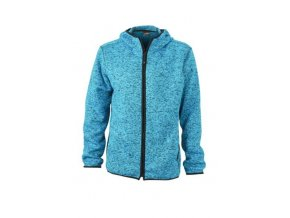 Knitted Fleece Hoody fleecová bunda modrá