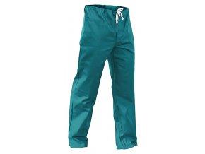 Monterkové kalhoty do pasu pánské zelené