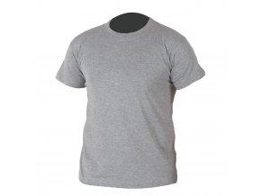 TEESTA triko bavlněné šedý melír