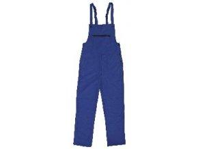 FRANTA monterkové kalhoty s laclem modré