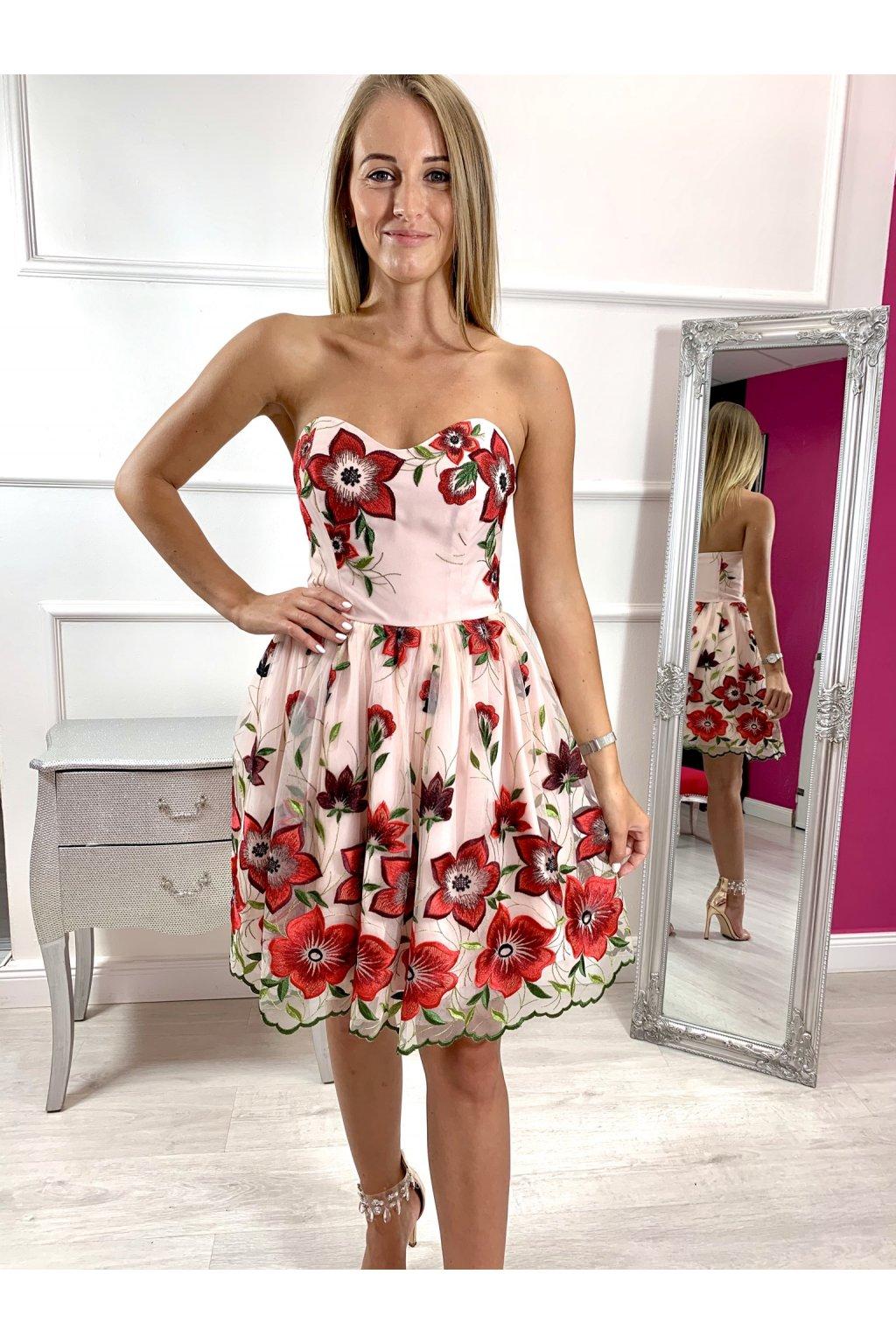 ROSIE dámske krátke spoločenské šaty - vyšívané