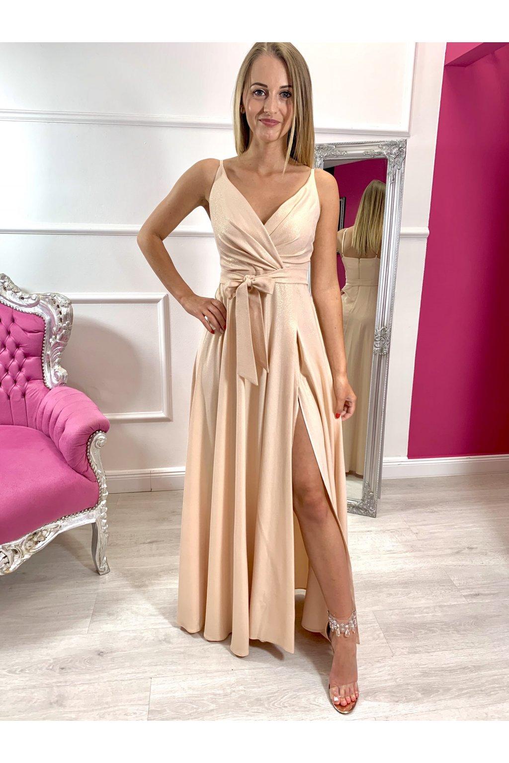 MISSY dámske dlhé spoločenské šaty - zlaté
