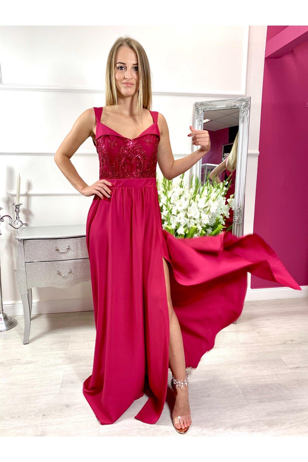 SALMA dámske dlhé spoločenské šaty mailnové