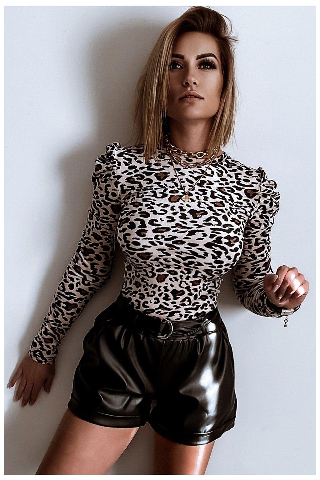spodenki leather 649 black 4
