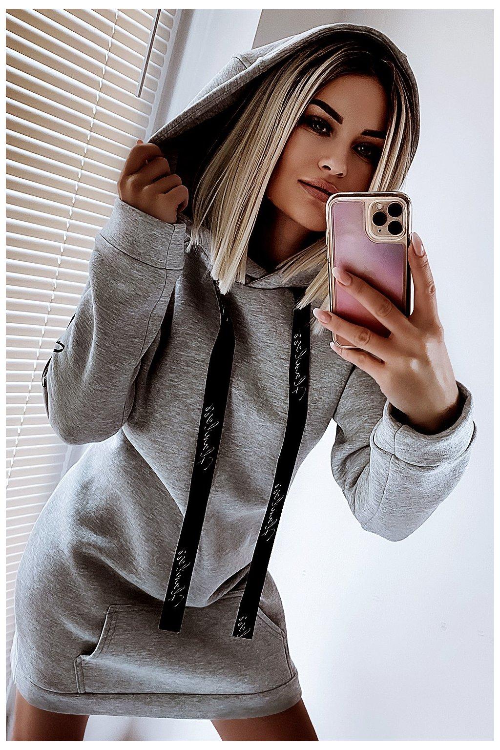 bluza long 627 gray