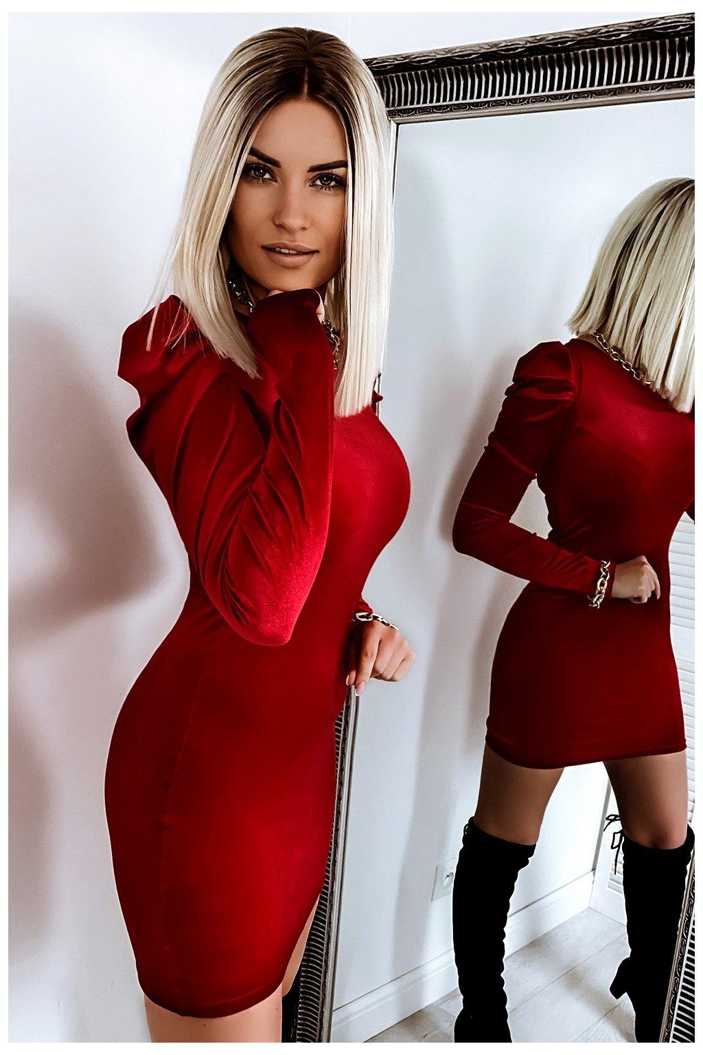 sukienka bufki 654 red