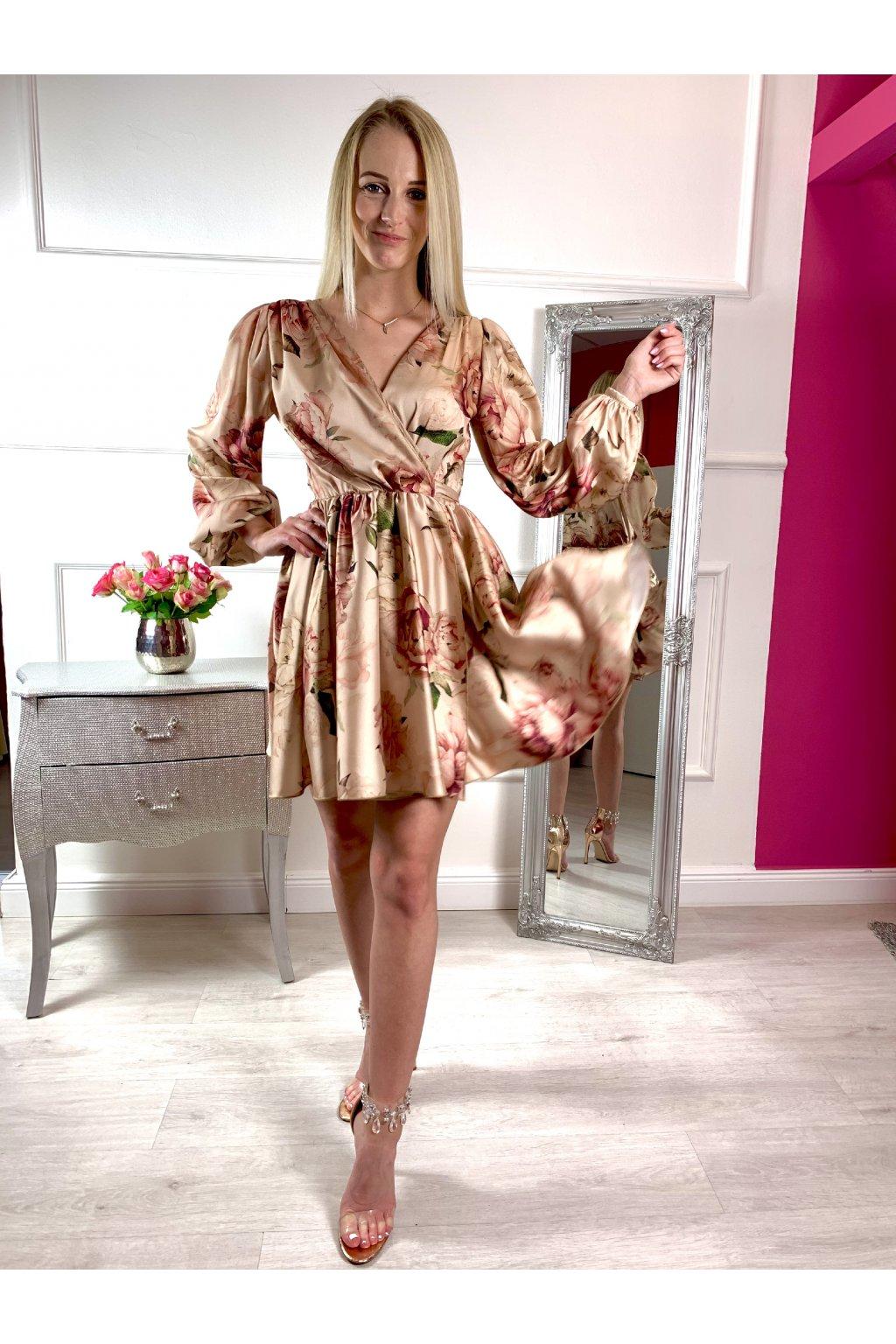 CHloé krátke dámske šaty na viazanie