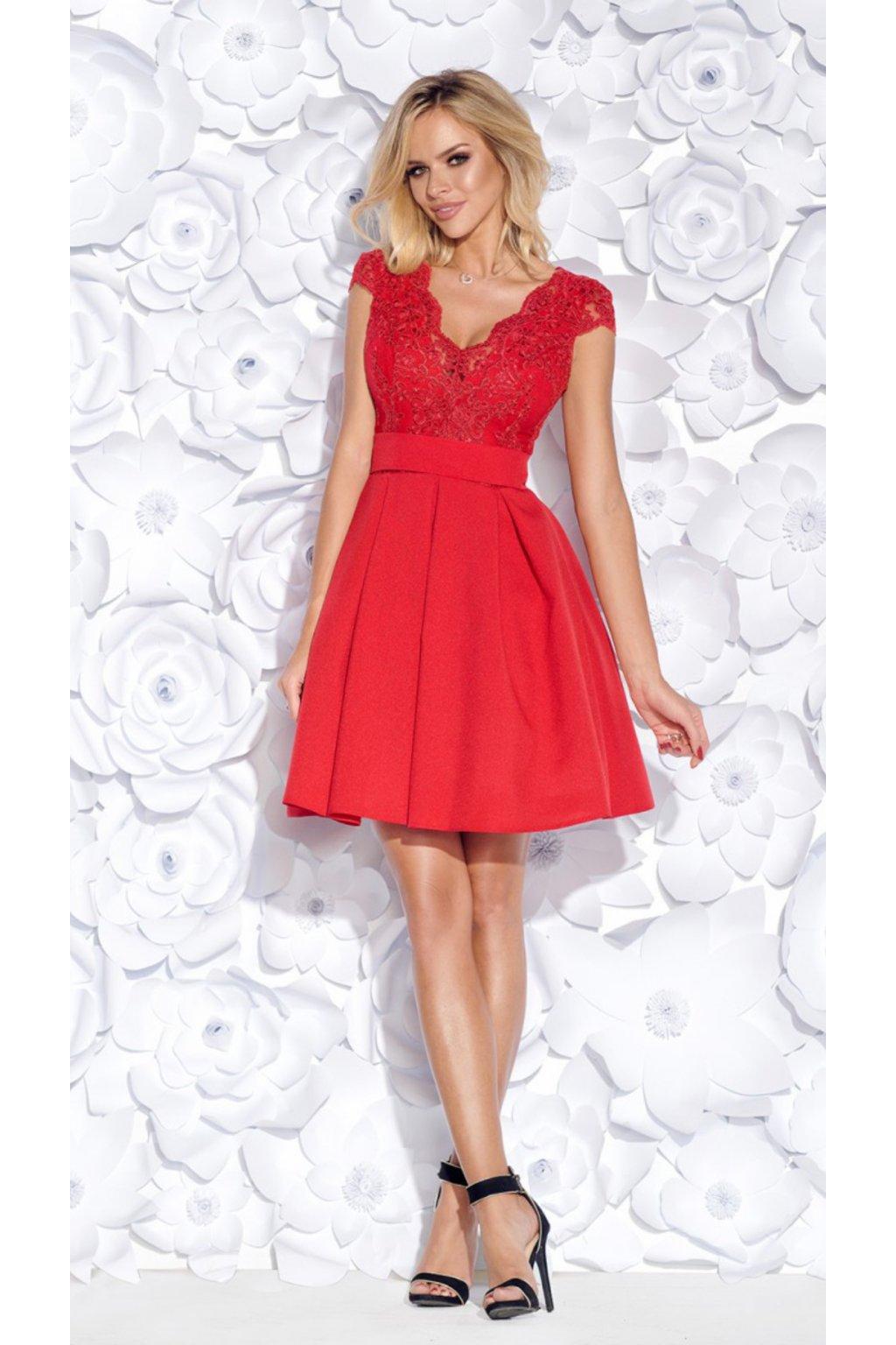 BUTTERYFLY dámske krátke šaty červené