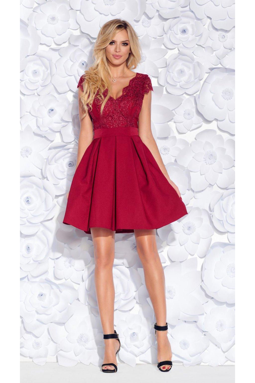 BUTTERYFLY dámske krátke šaty bordové