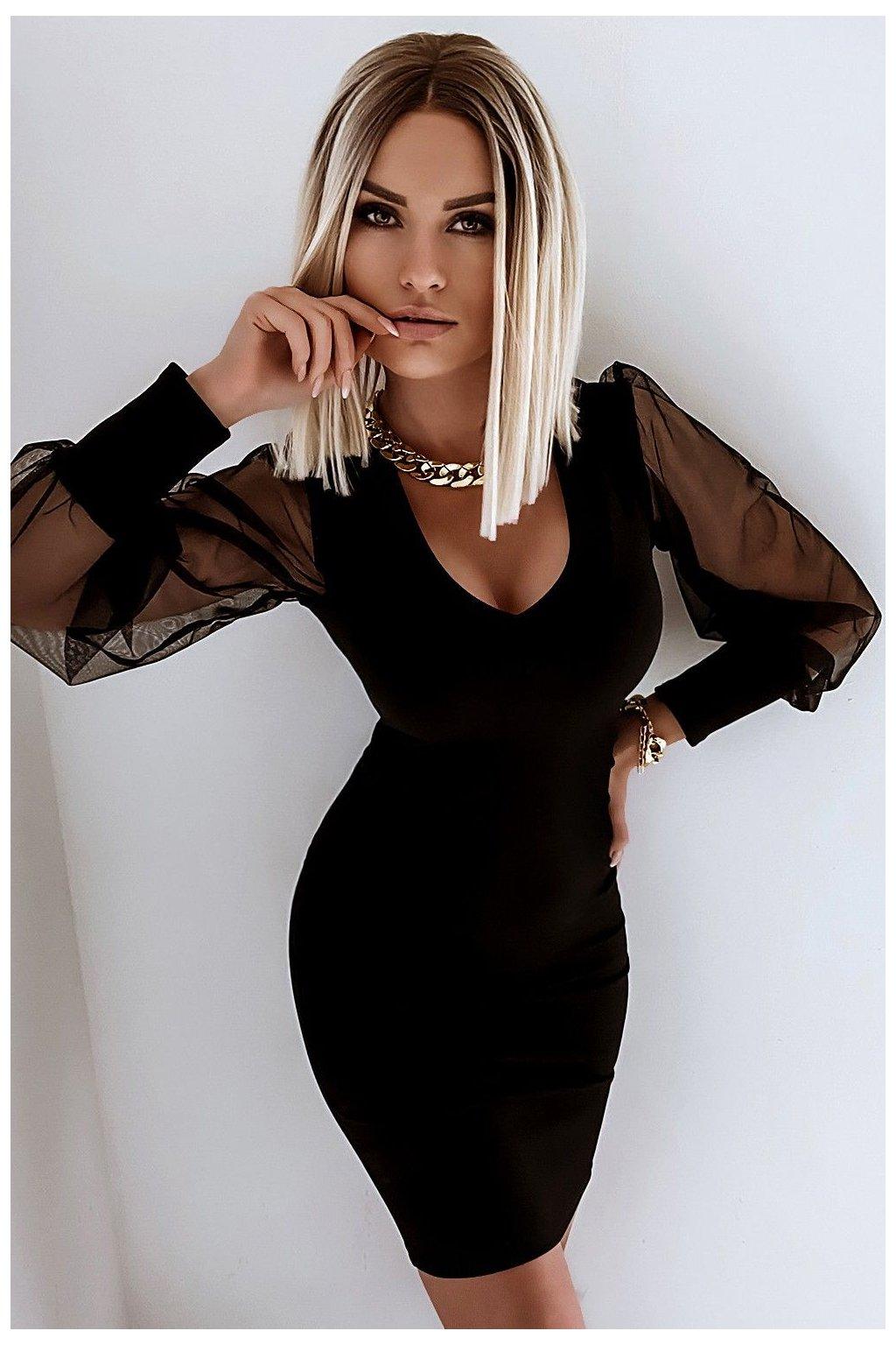 sukienka bufki 485 black 2