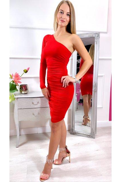 NIKY krátke šaty  červené