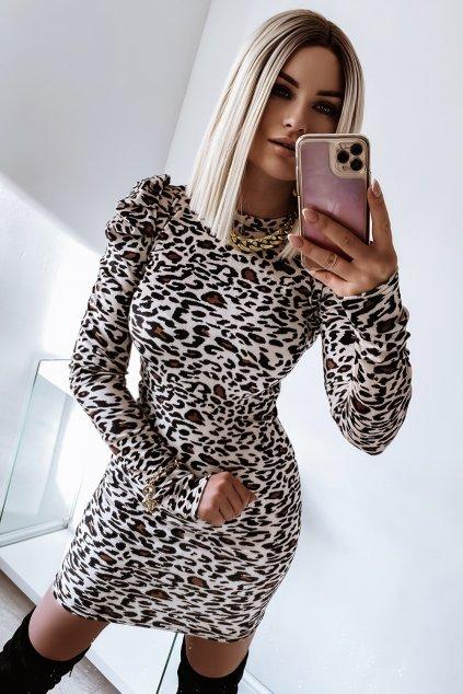 Zamatové priliehavé  šaty - Panther