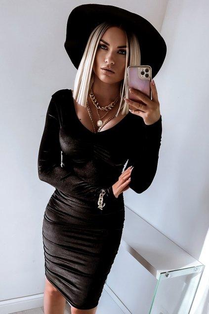 sukienka marszczona midi 658 1 black