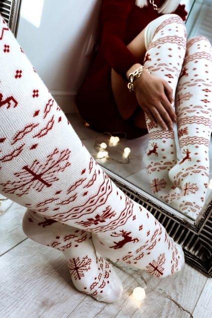 zakolanowki swiateczne norway white