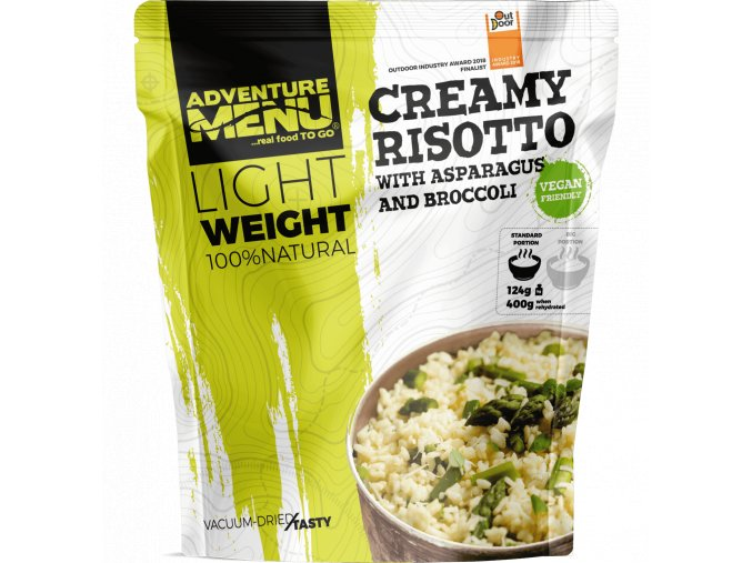 Pouch LW Creamy risotto with asparagus and broccoli