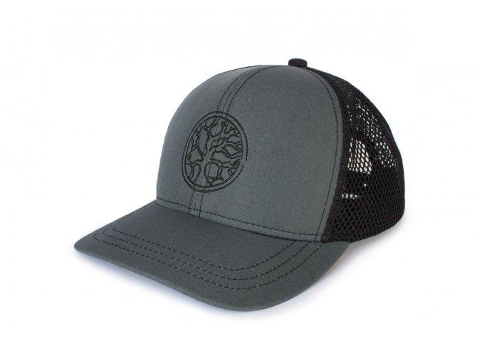 Trucker kšiltovka Nordic Craft šedá/černá síťovina - velké logo