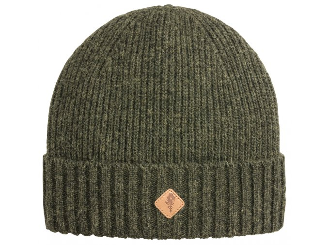 1121 194 01 pinewood hat wool knitted mossgreen melange