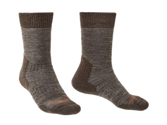 Pánské extra teplé ponožky Bridgedale Explorer HW MC Boot - Chestnut