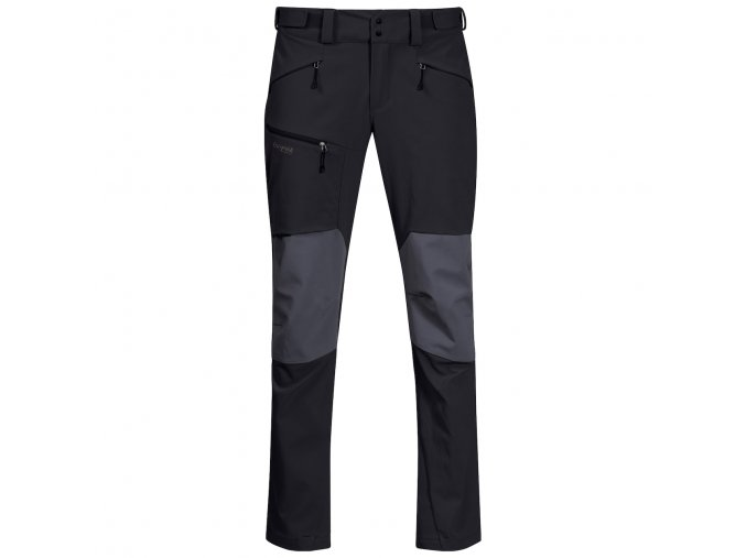 Pánské outdoorové softshellové kalhoty Bergans Rabot 365 Hybrid - černé