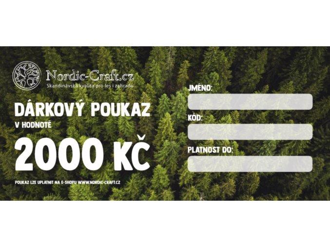 Dárkový poukaz 2 000,- na Nordic-Craft