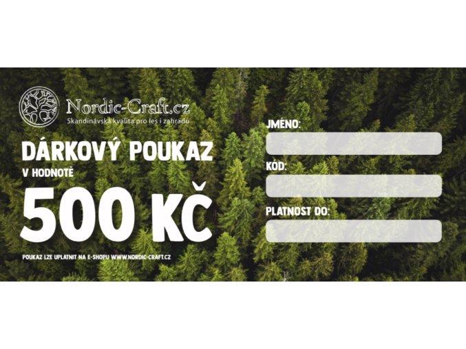 Dárkový poukaz 500,- na Nordic-Craft