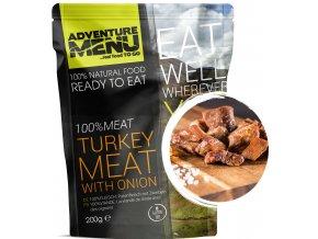100 Turkey meat with onion p