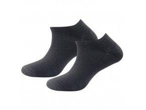 Vlněné kotníkové ponožky Devold 2 páry - Černé