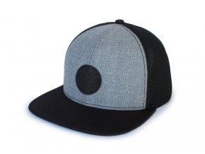 Trucker kšiltovka Nordic Craft šedá/černá síťovina - černé logo