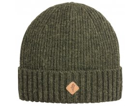 1121 194 01 pinewood hat wool knitted mossgreen melange