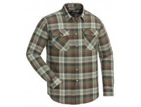 Flanelová košile Pinewood Härjedalen - green