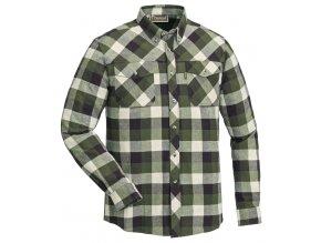 9525 117 shirt lumbo green offwhite