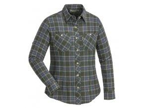 Pinewood Flanelová košile Felicia - Zelená/Růžová